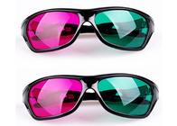 Çin Cinema Plastic 3D Glasses Linear Polarized With Anti Scratch Lenses Fabrika