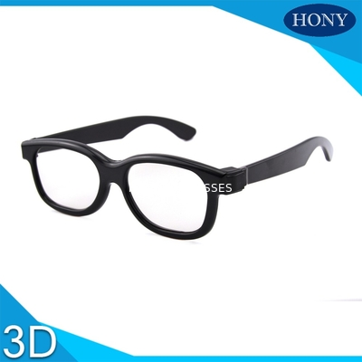 Çin Passive 3D Circular Polarized Glasses For Movies With ABS Materilas Distribütör