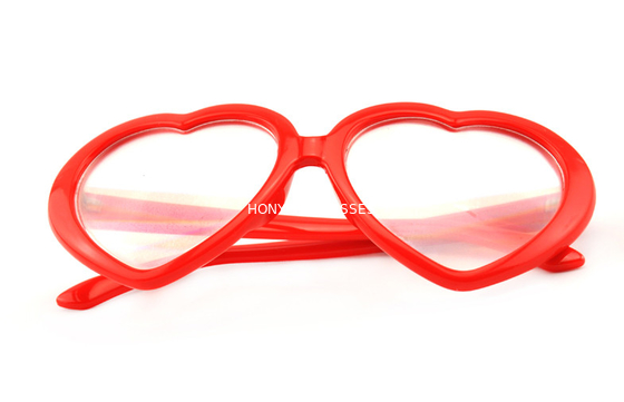 Çin Red Frame Plastic Diffraction Glasses For Night Club , Dance Event Distribütör