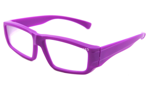Çin Purple Plastic Diffraction Glasses Use 0.35mm Thickness Lens Distribütör