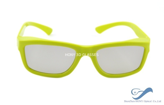 Çin Yellow Plastic Frame Circular Polarization Lenses Reald 3D Polarized Glasses Distribütör