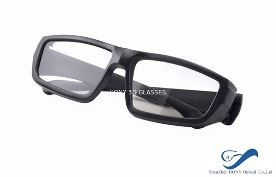 Çin Cheap Plastic Reald 3D Polarized Glasses With Black Color For Cinema Using Distribütör
