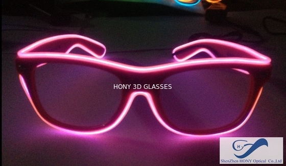 Çin Shining Plastic El Wire Glasses Colorful Frames For Christmas Festival Party Distribütör
