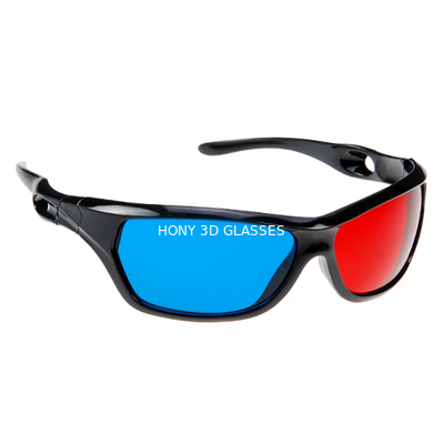 Çin Anaglyph Plastic Red Cyan 3D Glasses Passive For Watching Movie Distribütör