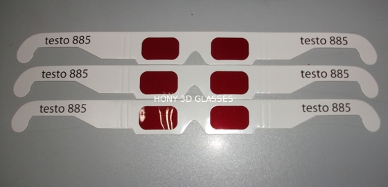 Çin Disposable Paper 3D Decoder Glasses With Red Lens OEM ODM Distribütör