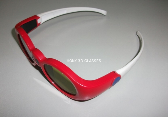 Çin Red Anaglyph Xpand 3D Shutter Glasses Eyewear For Children At Home Distribütör