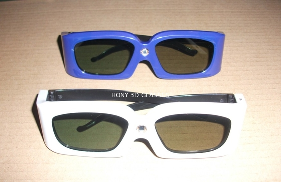 Çin Green Blue Stereoscopic Universal Active Shutter 3D Glasses Compatible Link Distribütör