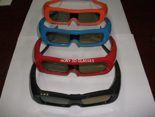 Çin Colorful Universal Active Shutter 3D Glasses For TV Water Proof Distribütör